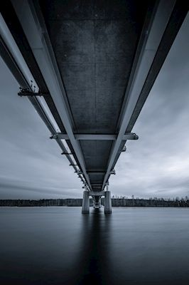 Under a bridge in Piteå, Sweden. Available as poster at printler.com, the marketplace for photo art. Photographer Håkan Johansson.