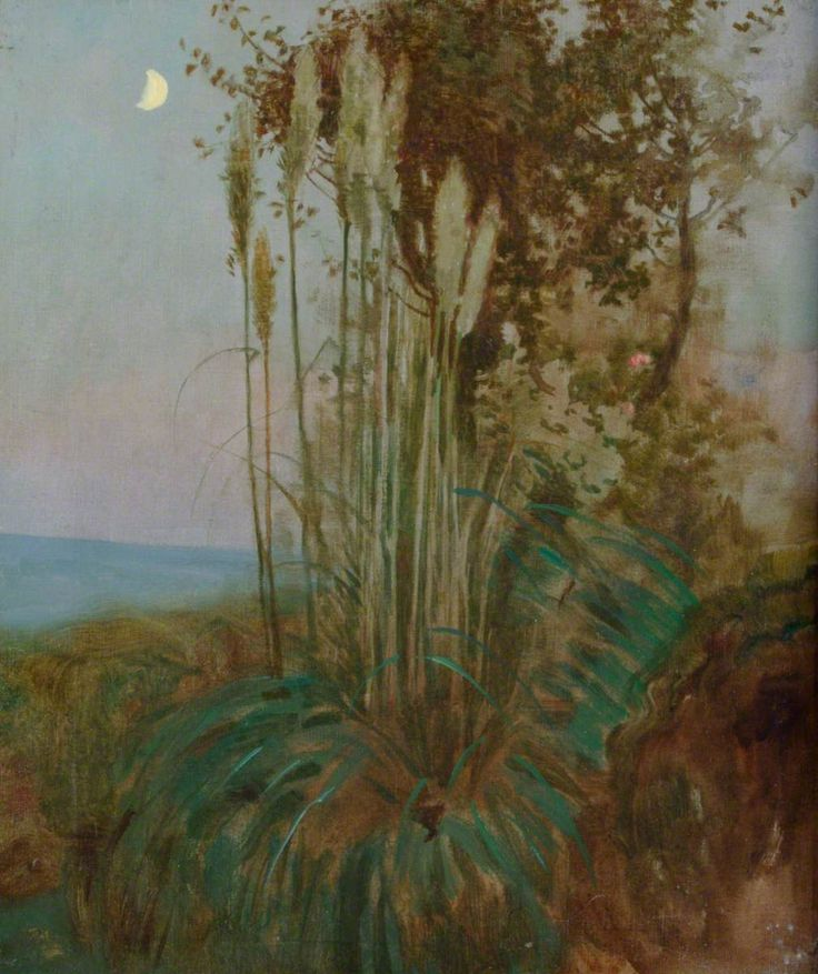 Rushes in Mediterranean Twilight  Benjamin Haughton (1865–1924)  Portsmouth Museums and Visitor Services