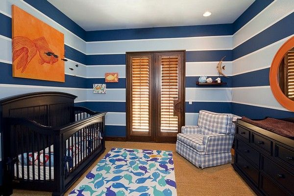 Trendy And Stress Free Child Room In Entrance Of The Blue Child