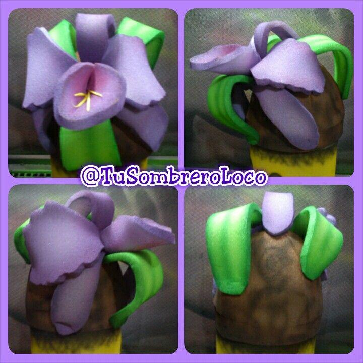 Orquídea #Sombrero #flor #nacional #Venezuela #actoescolar #infantil #niña #carnaval #carnaval2015 #evento #TuSombreroLoco #arteengomaespuma