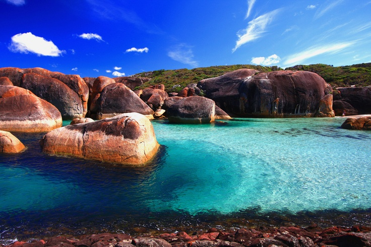 Who knew the water is so blue off the south west coast of Western Australia? The elephant rocks at William Bay National Park are a five hour drive from Perth.