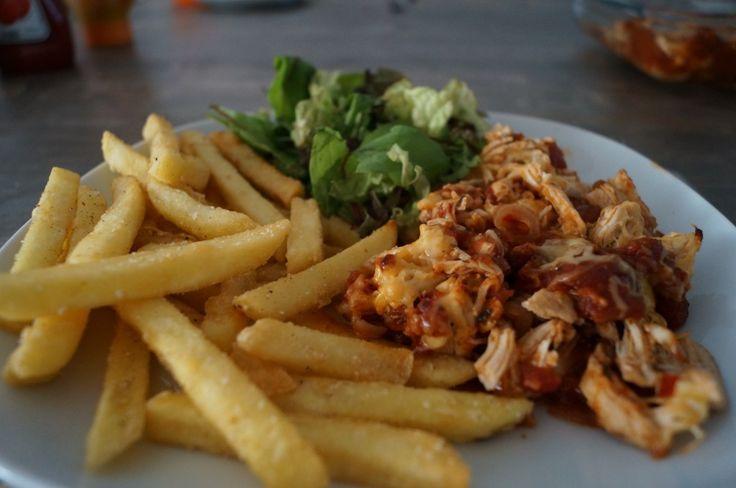 Hete kip met friet, super lekker recept by B4men.nl kijk ook op www.b4men.nl