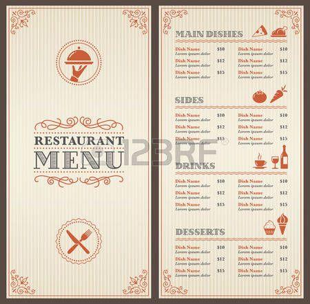21 best Cartas restaurante images on Pinterest Italian - free downloadable restaurant menu templates