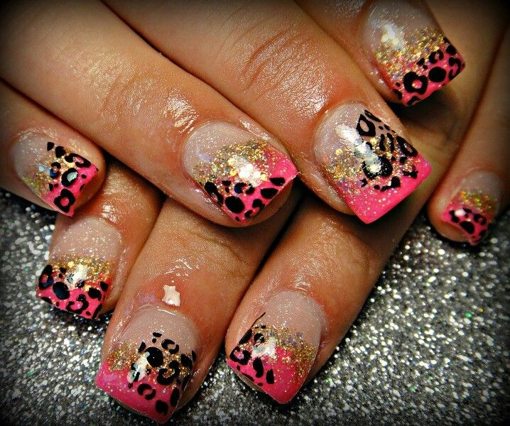 And Pink Nails, Nails Nails, Cheetahs Nails, Nails Art, Nails Design . - Nails Design Leopard ~ Beautify Themselves With Sweet Nails