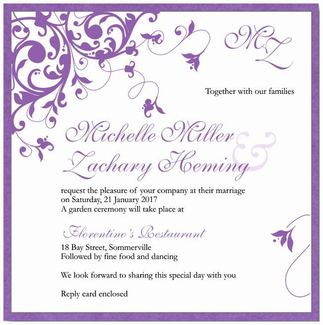 Microsoft Word Wedding Invitation Template Best Of Free Wedding Invita Blank Wedding Invitation Templates Fun Wedding Invitations Printable Wedding Invitations