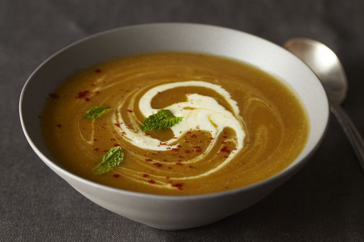 Winter Squash Soup with Red Chile and Mint
