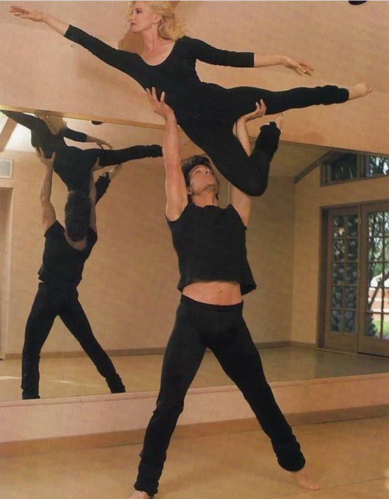 Patrick and Lisa Swayze. This is one way to stay in shape! - Ronni