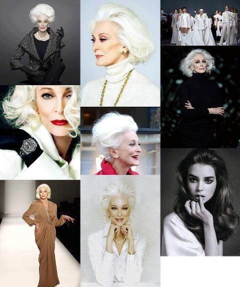 Carmen Dell'Orefice (born June 3, 1931) is 80 years old right now. She is the oldest model in the world modeling for the last 66 years, placing herself in the Guinness Book of World Records. WOW!