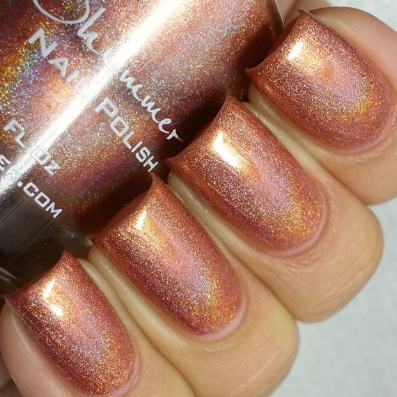 Run It's The Coppers Holographic Nail Polish  0.5 Oz by KBShimmer, $8.75