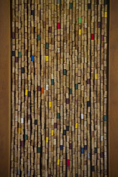A cork curtain I will do this  Corks  Wine cork crafts