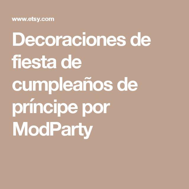 Decoraciones de fiesta de cumpleaños de príncipe por ModParty