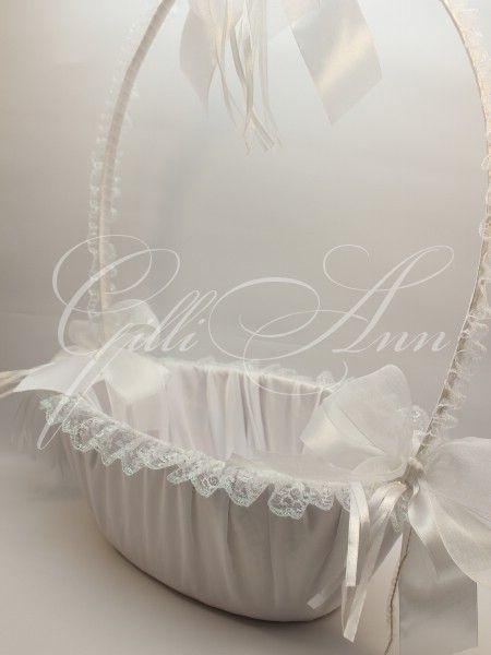 Корзинка для шампанского Gilliann White Rose BAS020 #basketschampagne #basketspetals