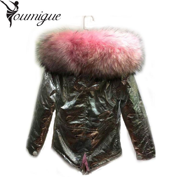 安いYoumigue新しい2016冬コートジャケット大アライグマの毛皮の襟厚い女性のダウン&パーカーシルバーカラー、購入品質毛皮&フェイクファー、直接中国のサプライヤーから:Youmigue新しい2016冬コートジャケット大アライグマの毛皮の襟厚い女性のダウン&パーカーシルバーカラー