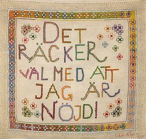 Vilda stygn och paljetter - Christel Olsson-Lindstrand på Repslagarmuseet, Älvängen