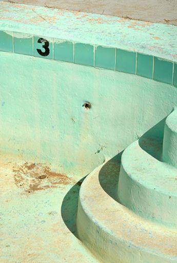 Pool at abandoned motel, Holbrook