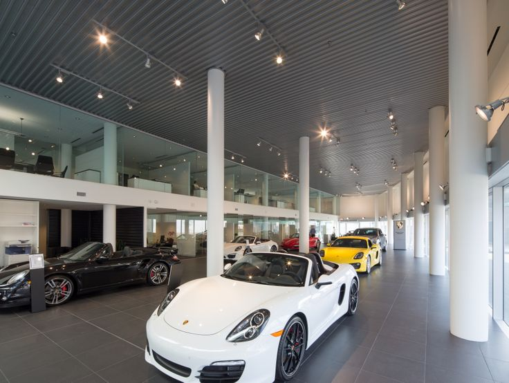 Located on Terminal Avenue in Vancouver, Porsche Centre Vancouver is Canada's first new concept Porsche dealership. The 400,000 SF car dealership features a large modern showroom, a private fitting lounge for customers to experience Porsche product customization and a customer cafe. The Centre also offers 20 technologically advanced service bays, specialized vehicle lifts, drive through service / valet areas and ample parking for an optimal customer experience.