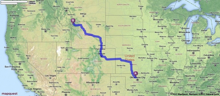 Driving Directions From Oklahoma City To Phoenix