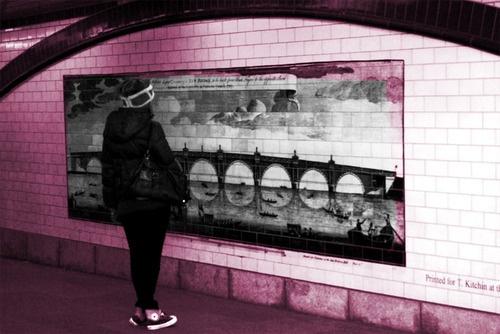 Under a bridge in London