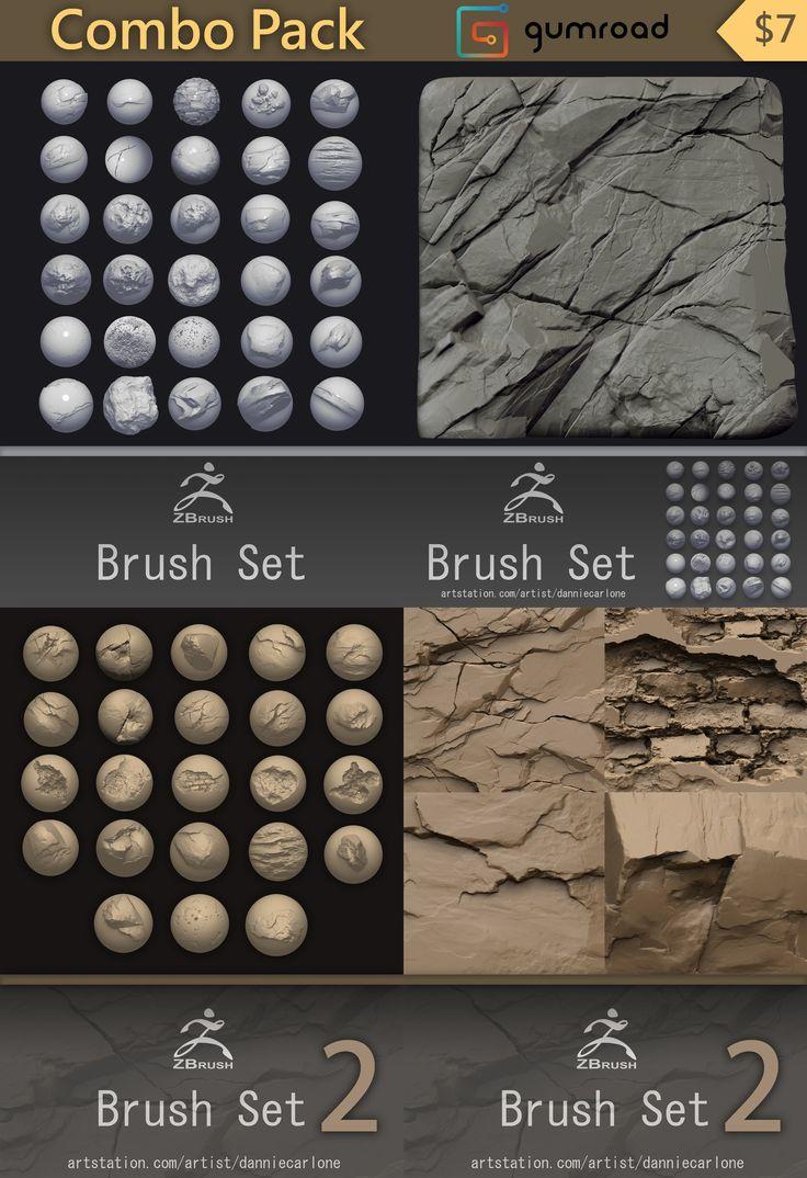 ArtStation - Zbrush Brush Combo Pack!, Dannie Carlone