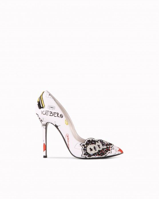 Pumps with illustrations and appliqué details Iceberg #Iceberg #pumps #cartoon #fashion #style #stylish #love #socialenvy #me #cute #photooftheday #beauty #beautiful #instagood #instafashion #pretty #girl
