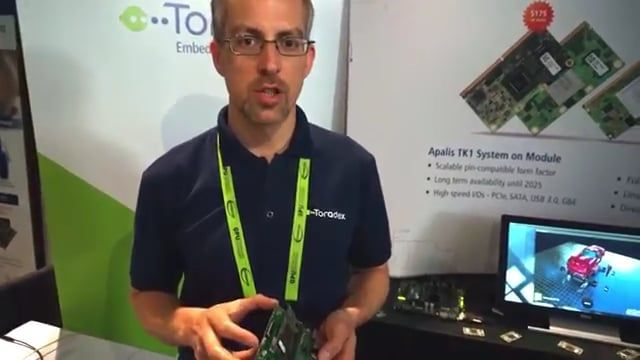 Watch this video showcase of Toradex's latest NVIDIA® Tegra® K1 powered Apalis TK1 System on Module (SOM) at the GPU Technology Conference (GTC) 2016. The Apalis TK1 module offers supreme performance and advanced 3D graphics capabilities at optimal power consumption. For more information on the Apalis TK1 System on Module, please visit: https://www.toradex.com/computer-on-modules/apalis-arm-family/nvidia-tegra-k1