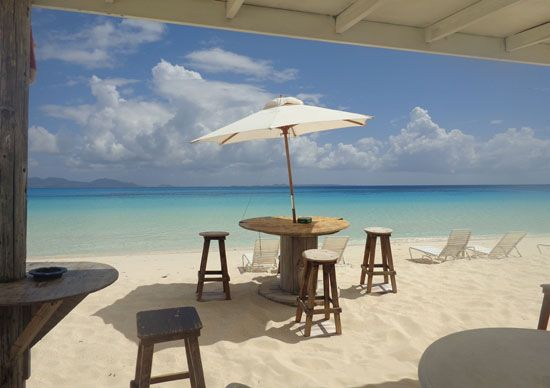Ahhhh... the clear turquoise of Rendezvous Bay, snapped from the shade of Garvey's Sunshine Shack beach bar. | Anguilla Beaches