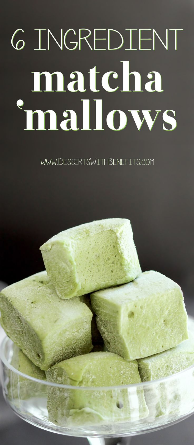 This recipe for UBER fluffy and cloud-like Healthy Matcha Green Tea Marshmallows is surprisingly fun to make and has just 6 ingredients... with no high fructose corn syrup in sight! Naturally colored, naturally flavored, and naturally sweetened.