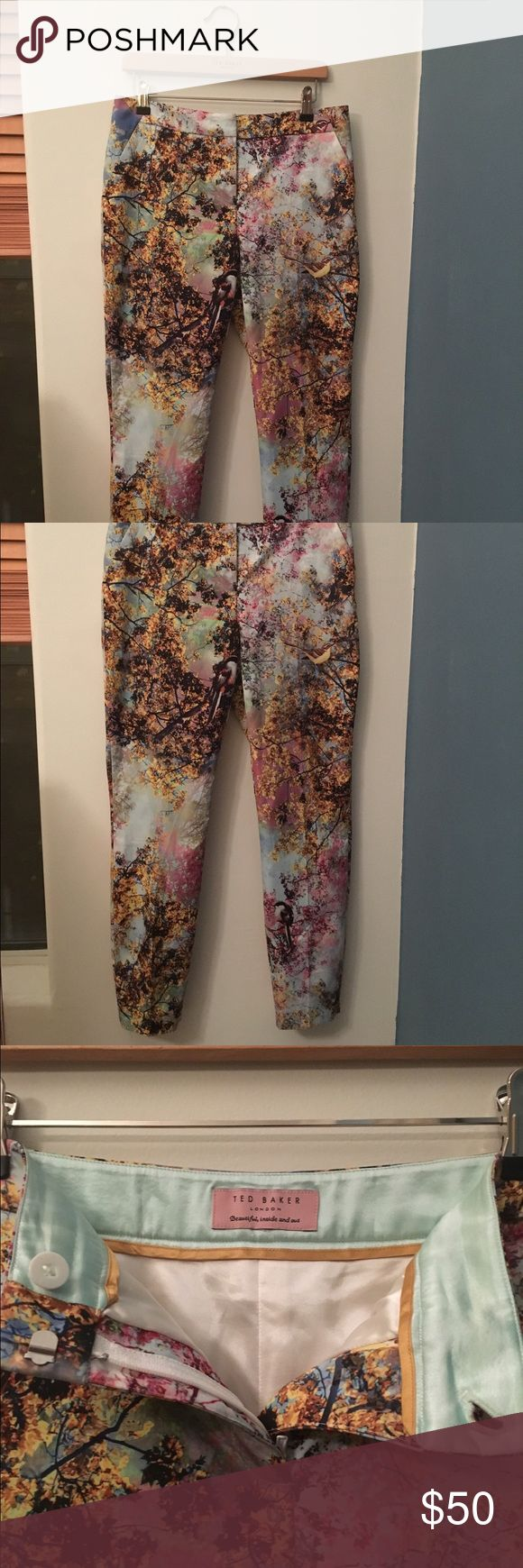 Ted Baker skinny trouser pants Floral Ted Baker Skinny Silk Trouser Pants Ted Baker London Pants Ankle & Cropped