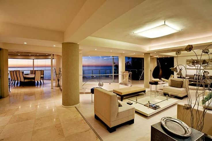The homes living-area floor is clean, fresh and cool to the eye.