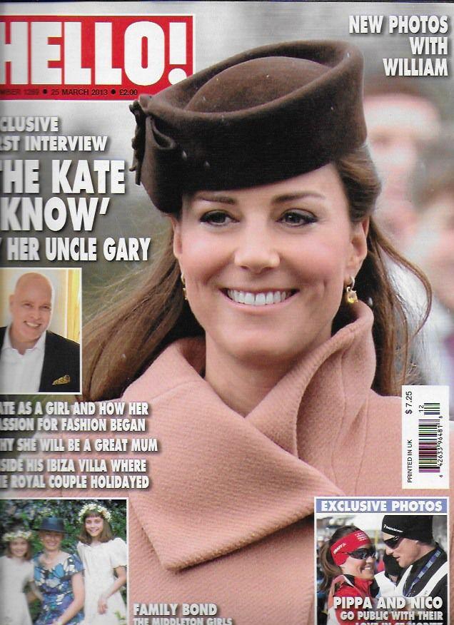 Hello magazine Kate Middleton Sam and Isabella Branson wedding Shobna Gulati