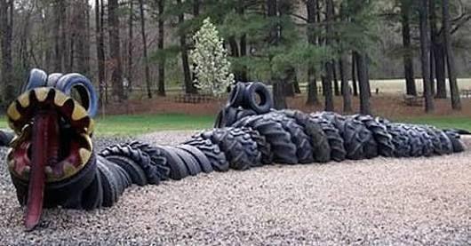 car tyre garde sculptures - Google Search