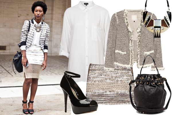monochromtic layering w/ an everyday suit-and-blazer combo :)