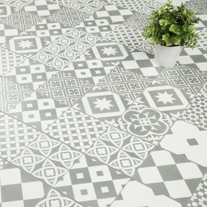 Mediterranean 8mm Tile Effect Laminate Monochrome 2 058m2 Tile Effect Laminate Tile Effect Laminate Flooring Laminate