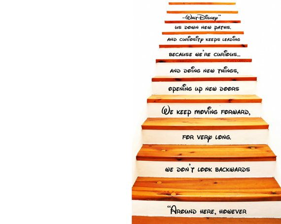 Walt Disney Quote Decal Stair Decal Vinyl By