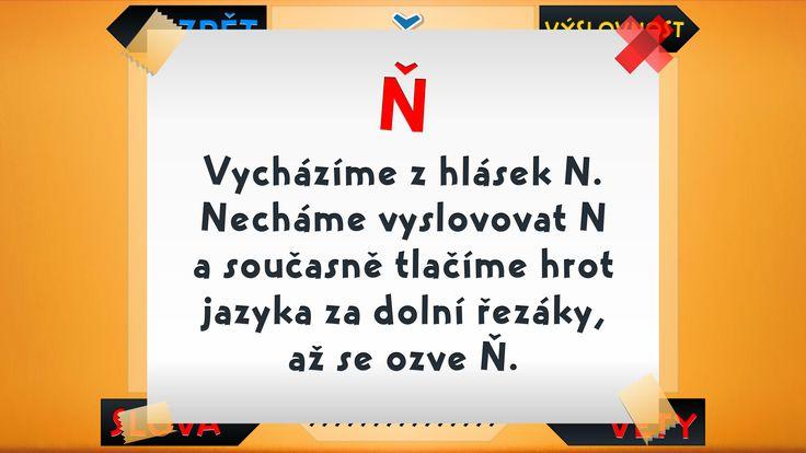 výslovnost Ň