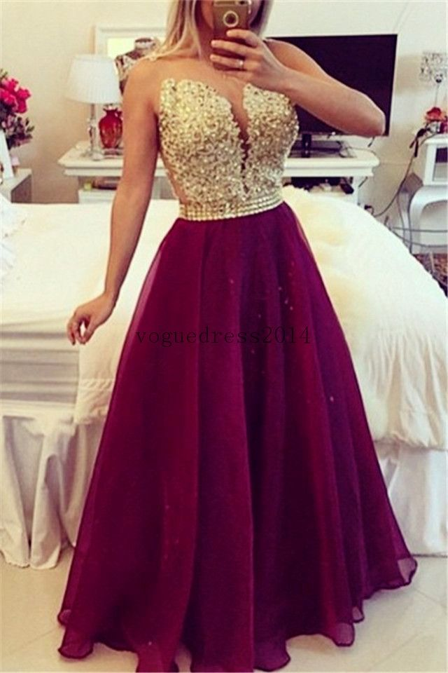 Sweetheart Burgundy Chiffon Long Prom Dress Popular Plus Size Formal  Evening Dresses  b6e8c62b7832