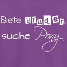 Lustiger Spruch T-Shirts für kleine und große Geschwister-Kinder.