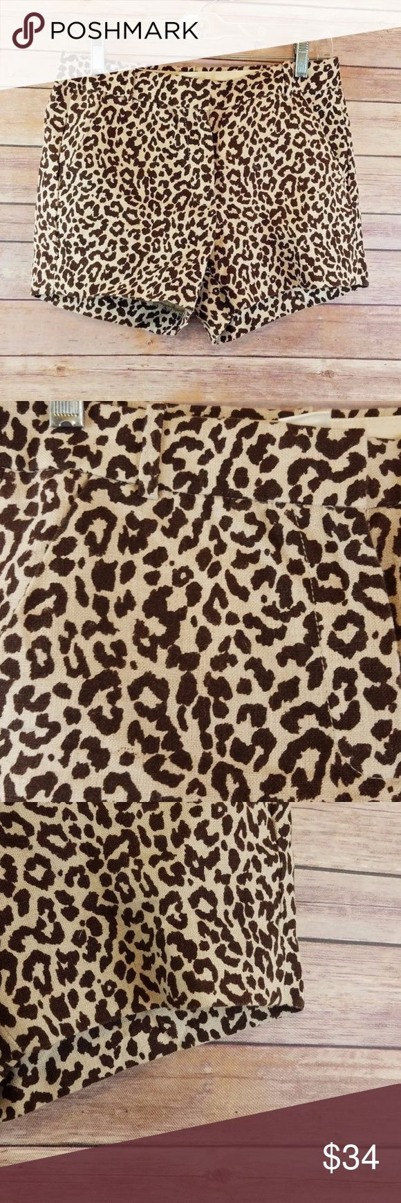 "J CREW Shorts Womens Size 2 Cheetah 100% Linen J CREW Shorts Womens Size 2 Safari Cat Leopard Cheetah Animal Print 100% Linen   Excellent used condition- no rips, stains, smoke free home. Hip to hip: 15"" Length: 3.5"" Inseam: 13.5"" J. Crew Shorts"