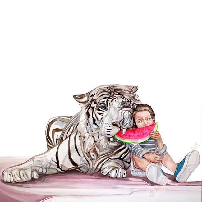 Sanatlı Bi Blog Çocuklar ve Hayvanları Aynı Karede Resmeden Sanatçıdan 17 Sevimli Çalışma 11