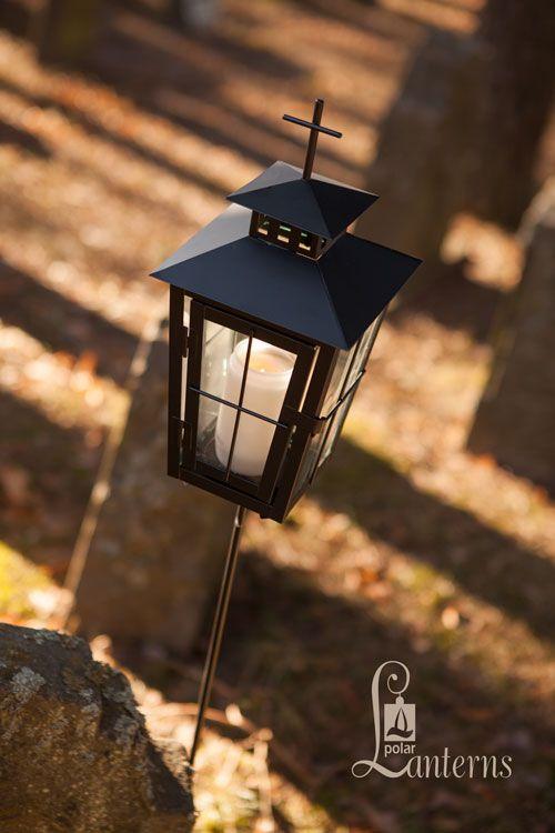 116607 Hautalyhty, musta, 31cm+varsi 90cm / Grave lanterns