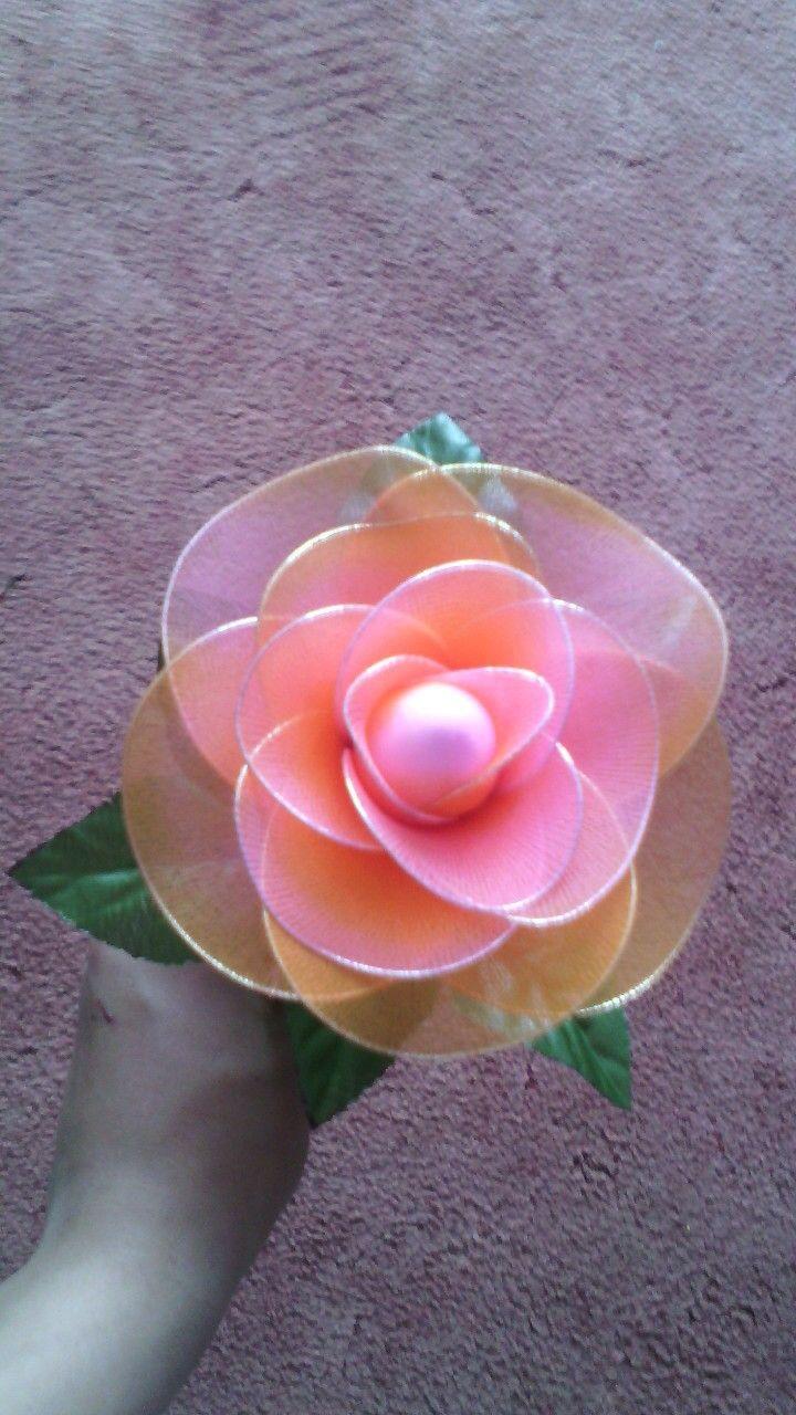 Harisnyavirág rózsa-nylon flower rose