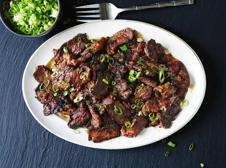 For this basic bulgogi recipe, cutting the meat into very thin strips allows it to absorb the hot-sweet-salty marinade in minutes, not hours.
