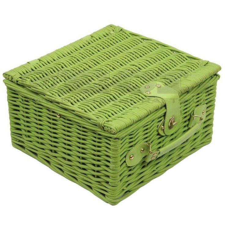 This greenWillow Wicker Picnic Basket is made from willow wicker and then painted with a green finish to make it stand out and will help lend a traditional timeless feel to your picnics. They are great to have for sunny days out romantic picnics or family days in the park. They also make fantastic gift ideas for weddings anniversaries or any other special occasion.  Specifications: -  Green wicker 2 x Sets of plastic handled stainless steel cutlery 2 x Ceramic mugs/Plastic Cups (see…