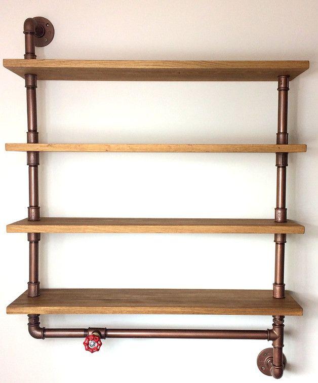 Wandregale - rohre regal,loft,industrial - ein Designerstück von Steel-and-Wood bei DaWanda