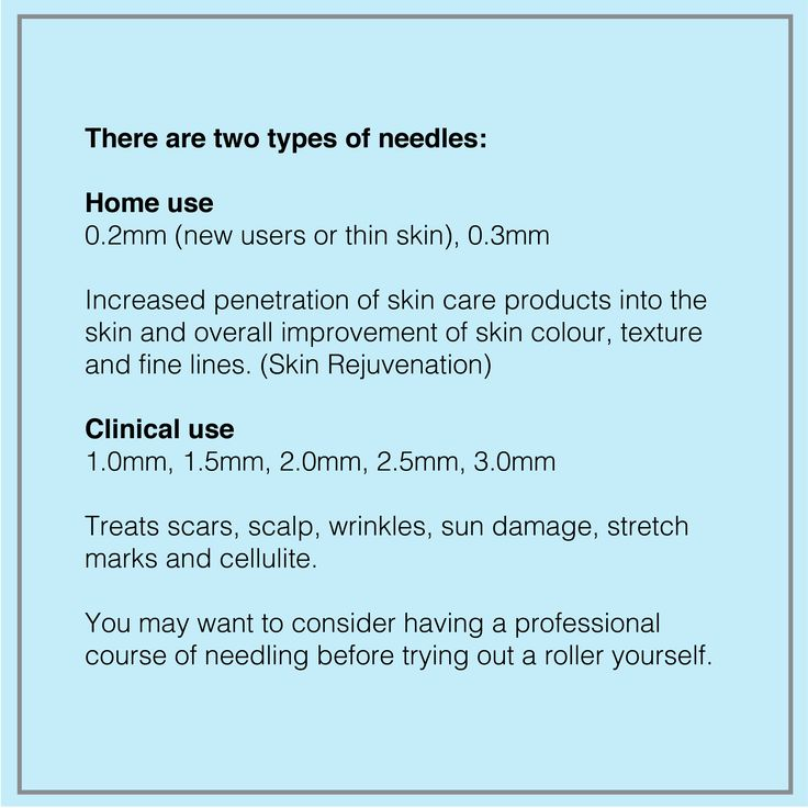 There are two types of needles - home use and clinical use. #dermacaredirect #microneedling #skincare