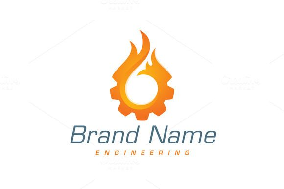 For sale. Only $29 - engineering, fire, flame, gear, cog, burning, burn, energy, fuel, heat, drop, power, orange, blue, memorable, modern, simple, stylized, wheel, blaze, technology, oil, gas, heating, machine, engine, ignite, hot, logo, design, template,