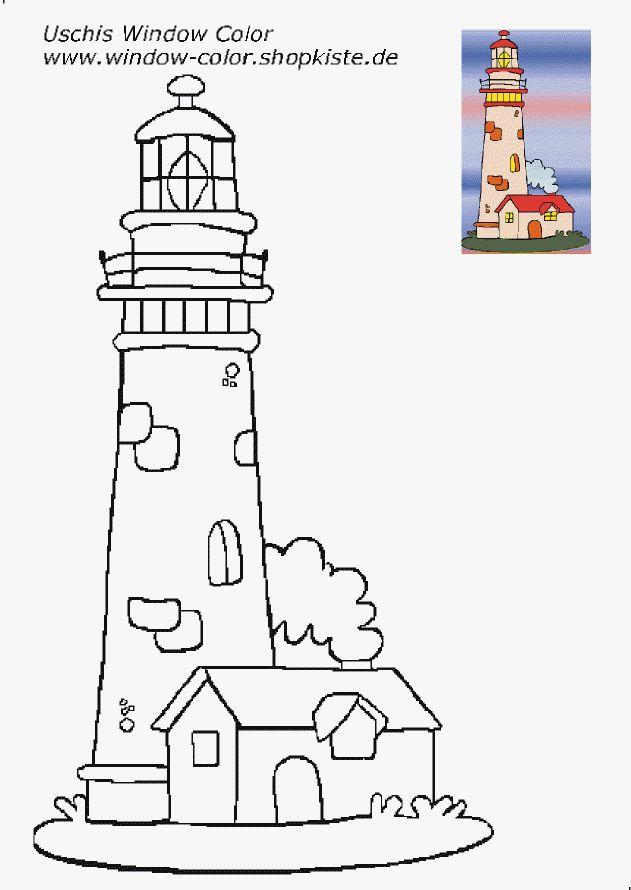 leuchtturmvorlagen  leuchtturmmalerei leuchturm basteln