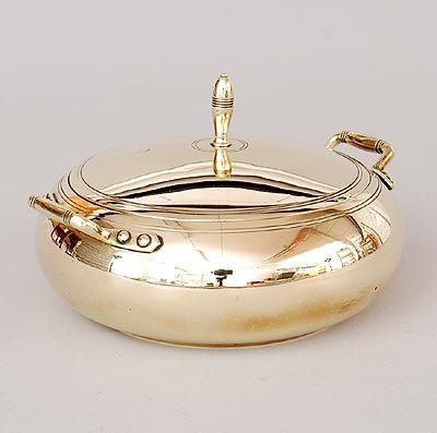Found on www.botterweg.com - Brass sugarbasin design execution by Jan Eisenloeffel the Netherlands ca.1905