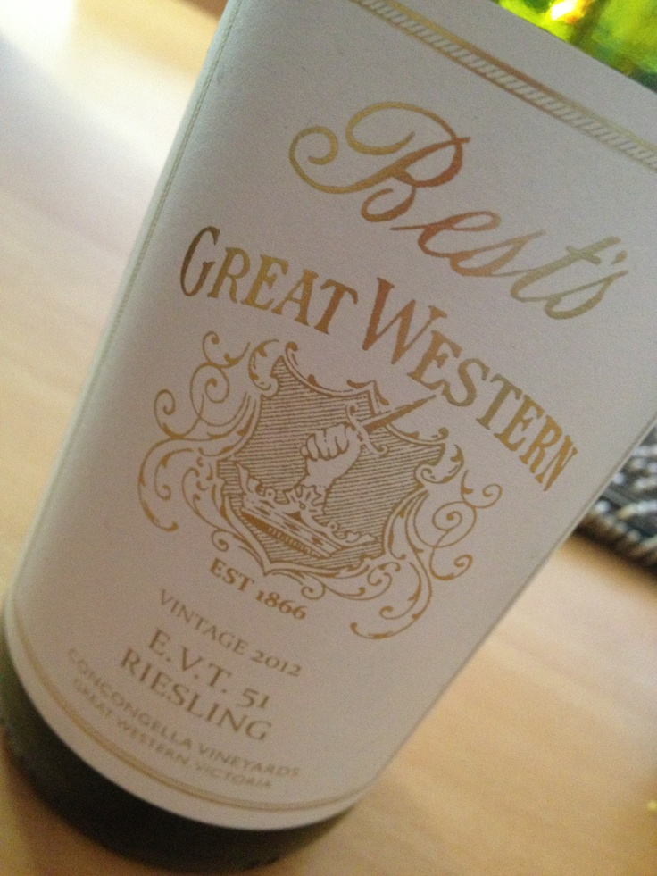 Bests wines E.v.t 51 Riesling named in honour of VIV Thomsons 51st vintage at Best's. Delicious Riesling that is great match with spicy food. $35.00 www.bestswines.com