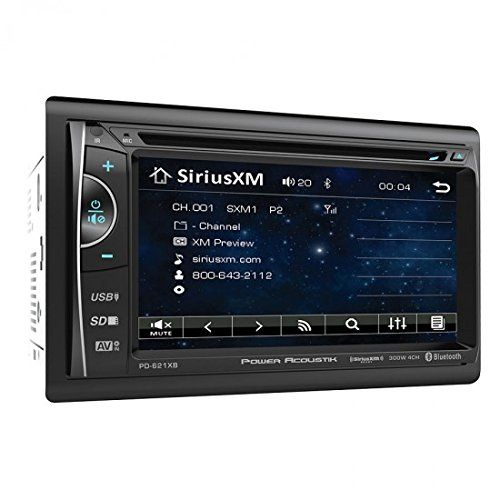 "Power Acoustik PD-621XB 2-DIN Source Unit With SXM Interface/Bluetooth/6.2"" LCD"